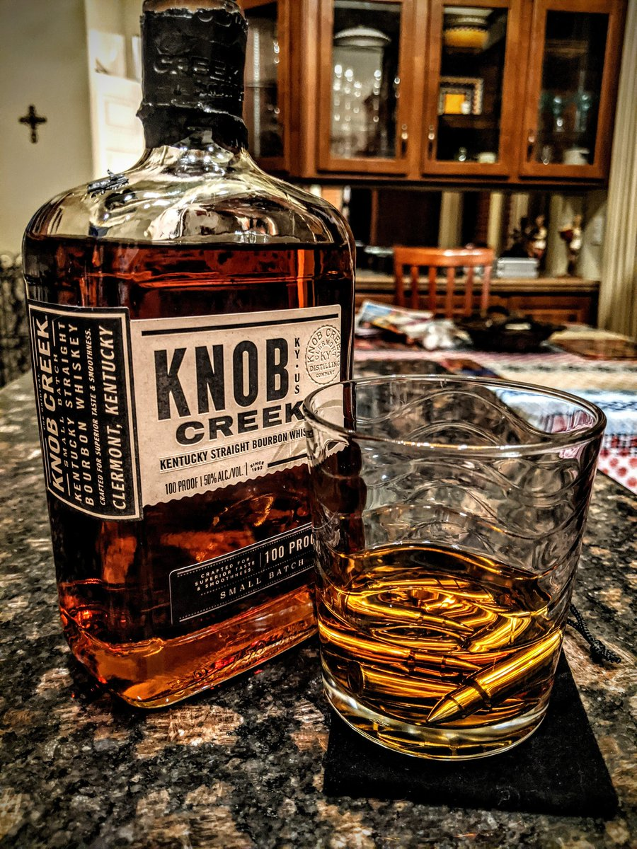 A shot of @knobcreek with stainless steel whiskey stone bullets. Great end of the evening adult beverage. #EveryBitEarned https://t.co/nWv8abyvgS