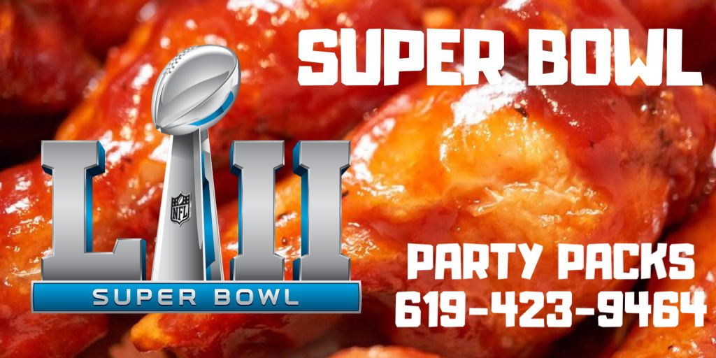 Call in early on #SuperBowlLIV #sunday and order your super bowl party pack of wings! #fortyniners #Chiefs @NFL #sandiego #GAMEDAY #hotwings #buffalofries #food