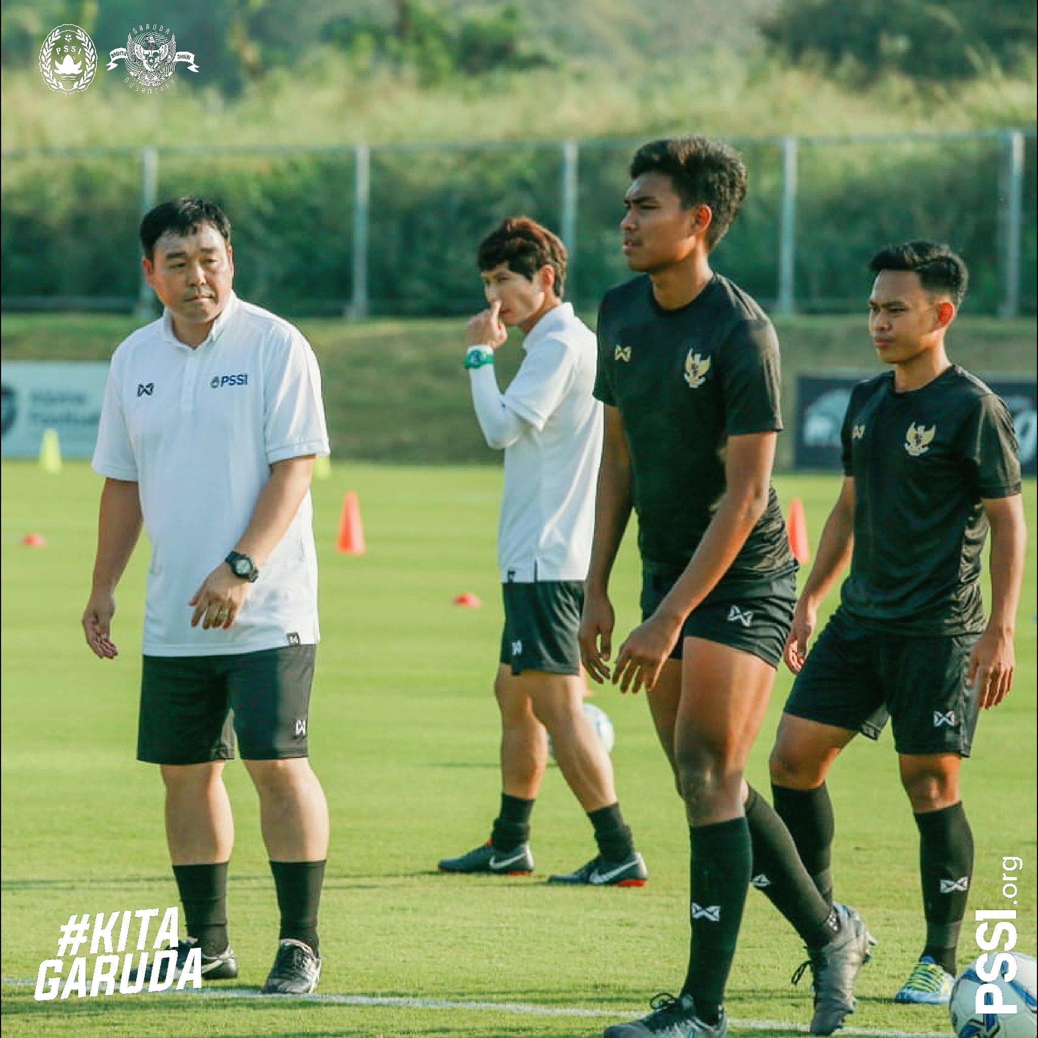 Suasana latihan Timnas U19 di Bangkok, Thailand
