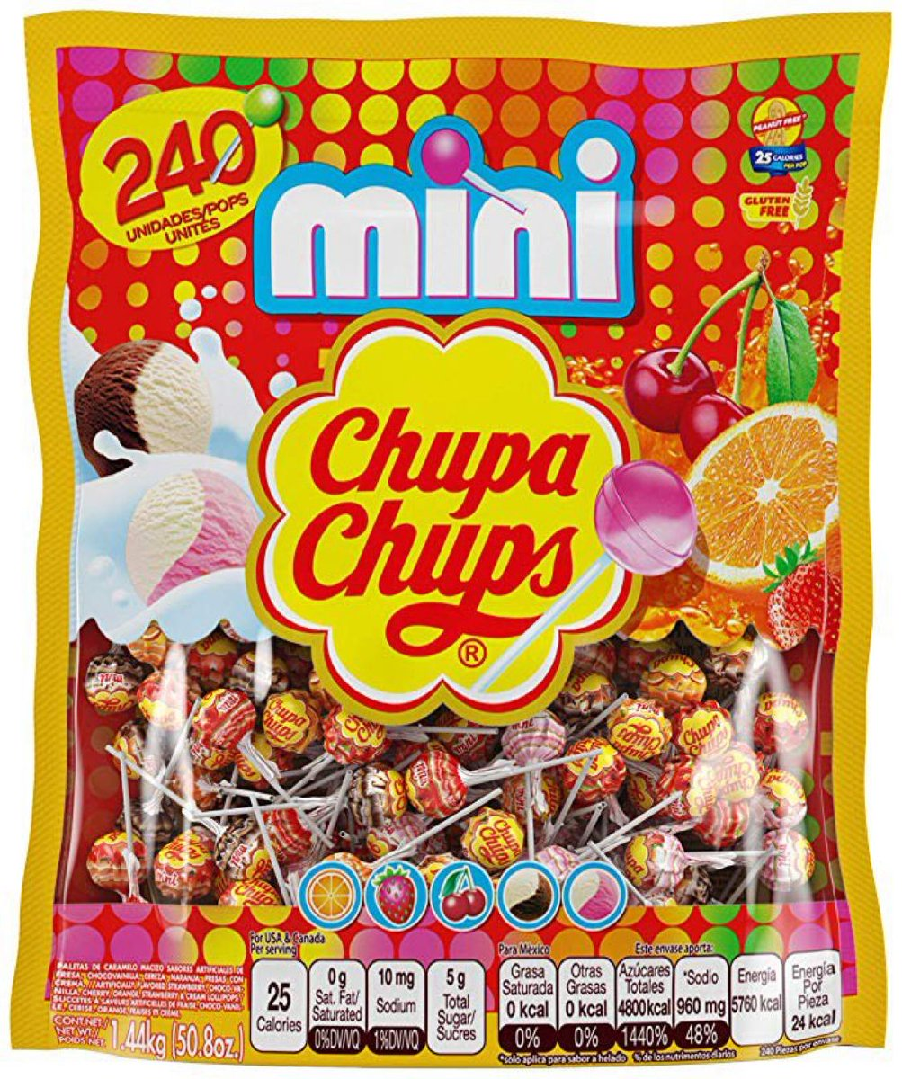Bag of 240 - Chupa Chups Mini Lollipops  $9.96 with Free Prime Shipping   Clip the 25% off coupon on page   #steals #deals #stealsanddeals
