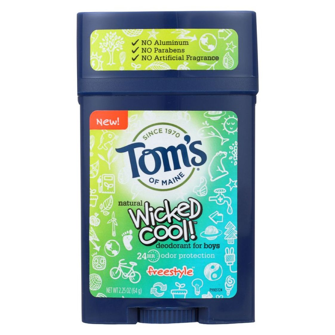 6 Pack - Tom's of Maine Wicked Cool Boy's Deodorant Stick, Freestyle   $5.06 with Free In-Store Pickup   #steals #deals #stealsanddeals