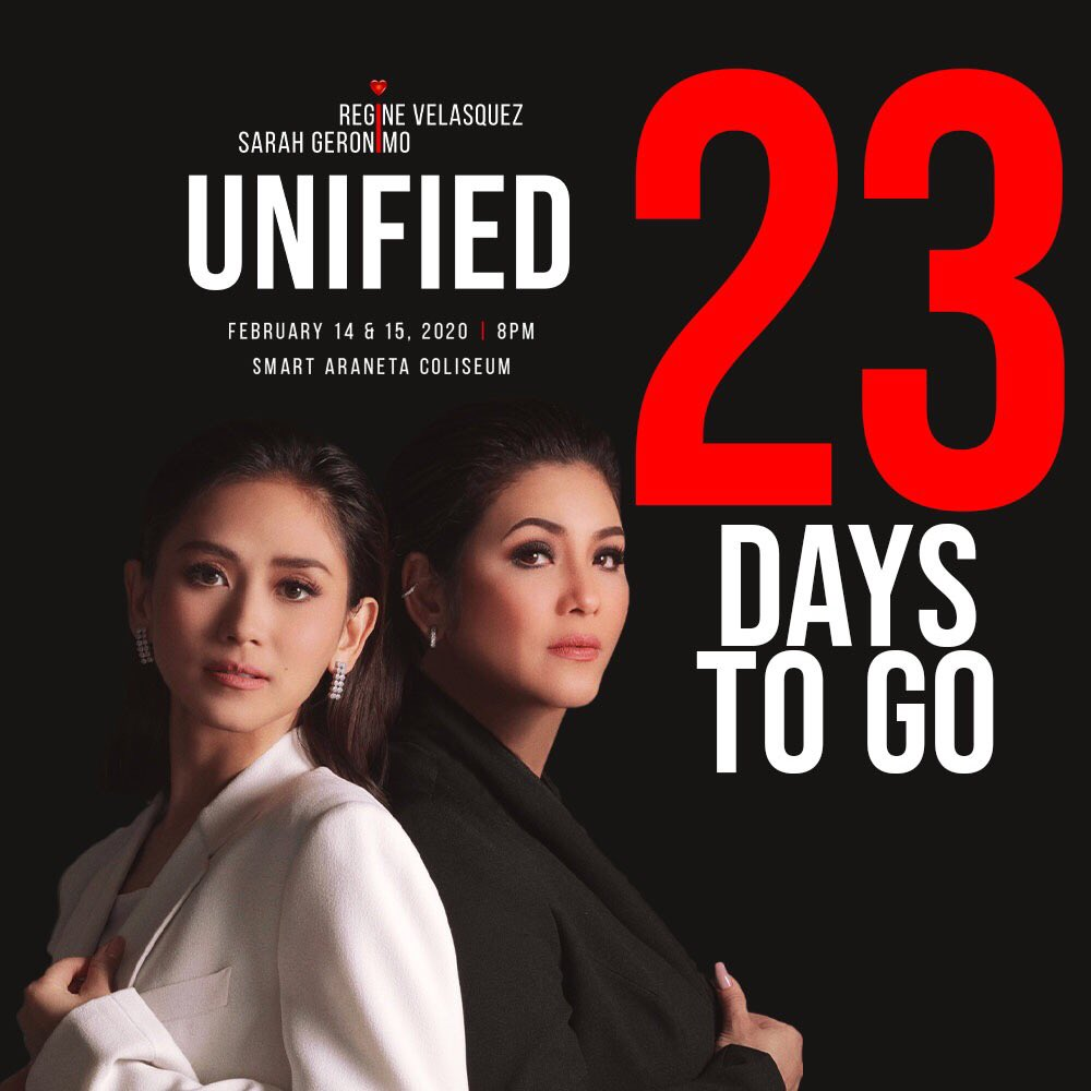 Be part of the much-awaited first concert collaboration between two pop queens from different generations, Asia's Songbird Regine Velasquez and Popstar Royalty Sarah Geronimo.  Only 23 days left!  Get your tickets now!  For tickets call TicketNet (02) 891-5555 <br>http://pic.twitter.com/dNEwMbG5fz
