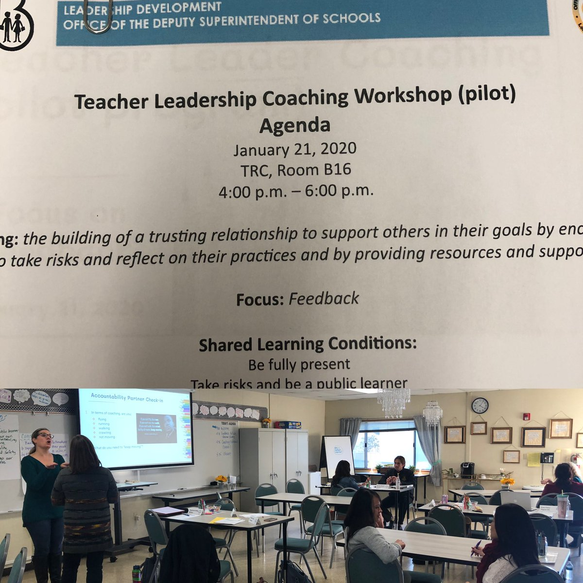 Ending the day with our Teacher Leader Coaching cohort! Tonight we're diving into feedback via our coaching fishbowl. #proudtobeLBUSD