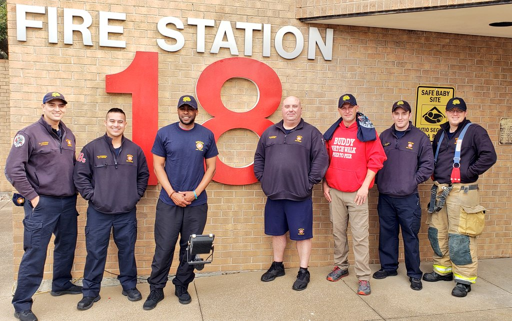 @DallasFireRes_q was honored to host John & Jimmy with @BuddyWatchWalk during their @CityOfDallas stop! 👣across the #USA to bring awareness to #PTSD issues like #depression, #suicide and #addiction that impact #militaryveterans and #firstresponders alike! https://m.facebook.com/story.php?story_fbid=2840952159261288&id=340809029275626…