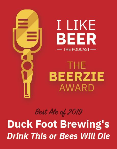 And the BEERZIE goes to...@DuckfootBrewing ! One of the first breweries we visited when we started this venture--fantastic people who know what they are doing! #sdbeer #craftbeer #indiebeer #drinklocal #beerme #drinkcraftbeer #beerstagram #beerpodcastpic.twitter.com/e8lAavuOxD