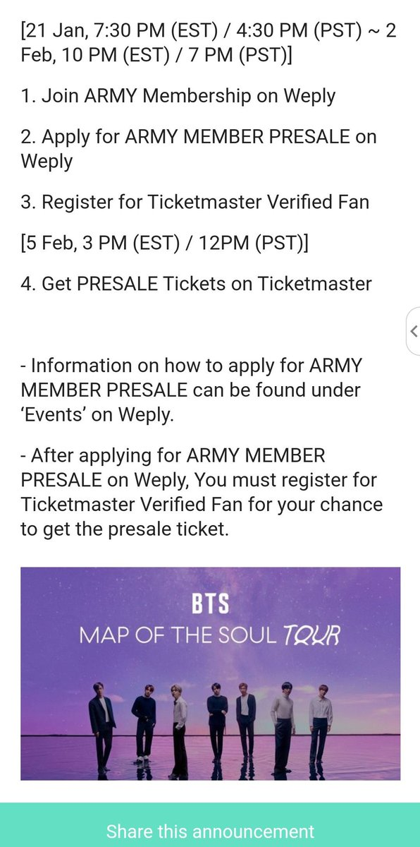 Ticketmaster Bts Tickets United Airlines And Travelling