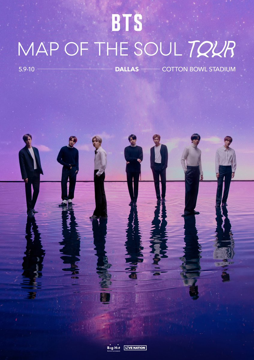 JUST ANNOUNCED: @bts_bighit is coming to the Cotton Bowl on 5/9 & 5/10 on their #MapofTheSoulTour! #ARMY MEMBER PRESALE and General Verified Fan registration is now open until Sunday, Feb 2 at 10pm ET. Get more info at ticketmaster.com/bts for registration. #BTS #방탄소년단
