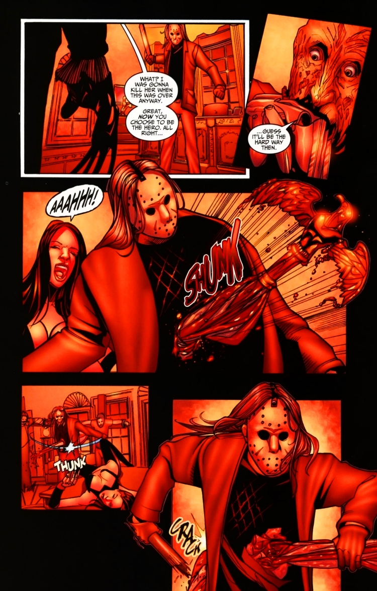 "Here's your daily random dose of #FridayThe13th #Comics!   ""Freddy Vs Jason Vs Ash: The Nightmare Warriors #5"", Wildstorm/Dynamite, 2009<br>http://pic.twitter.com/wGLYcg9s0B"