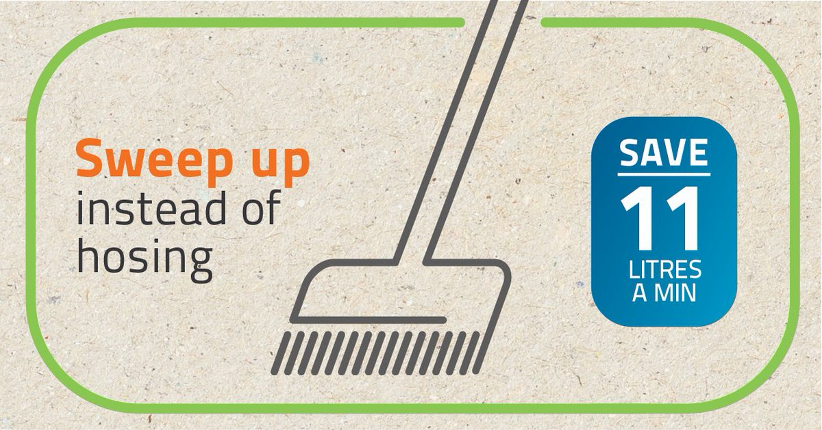 Dam levels in South East Queensland are below 60% and we need to save water to help stop dam levels falling. Use a broom instead of hosing pavements and patios and save 11 litres a minute! More:  http://www. unitywater.com/savewater      #letssavewatertogether #everydropcounts #savewater<br>http://pic.twitter.com/ntRaAmE155