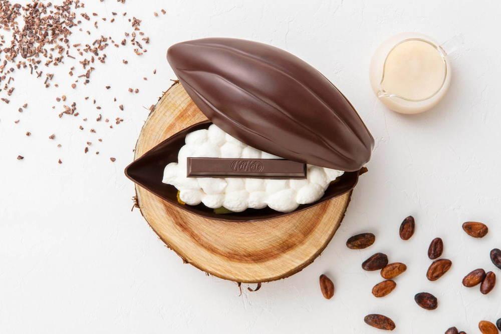 """キットカット ショコラトリー""""カカオの実""""型バレンタイン限定チョコスイーツ、フルーツもたっぷり -"""