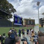 Image for the Tweet beginning: Bushfire #T20Showdown presser at Adelaide