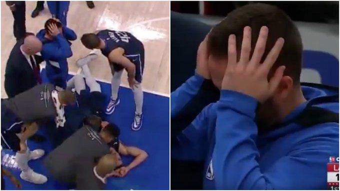 【影片】無對抗跟腱受傷?獨行俠悍將痛苦倒地隊友抱頭,這劇情和杜蘭特十分相似!