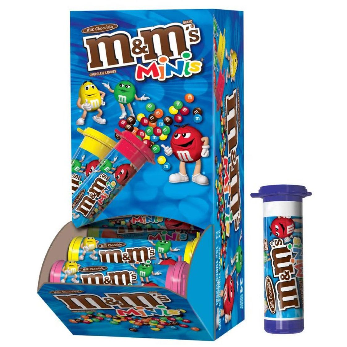 M&M'S MINIS Milk Chocolate Candy, 1.08-Ounce Tubes (Pack of 24)   $16.07 with Free Prime Shipping    #steals #deals #stealsanddeals
