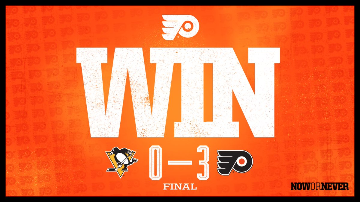 🔶 #FLYERS WIN 🔶 That's how it's done. #PITvsPHI | #NowOrNever