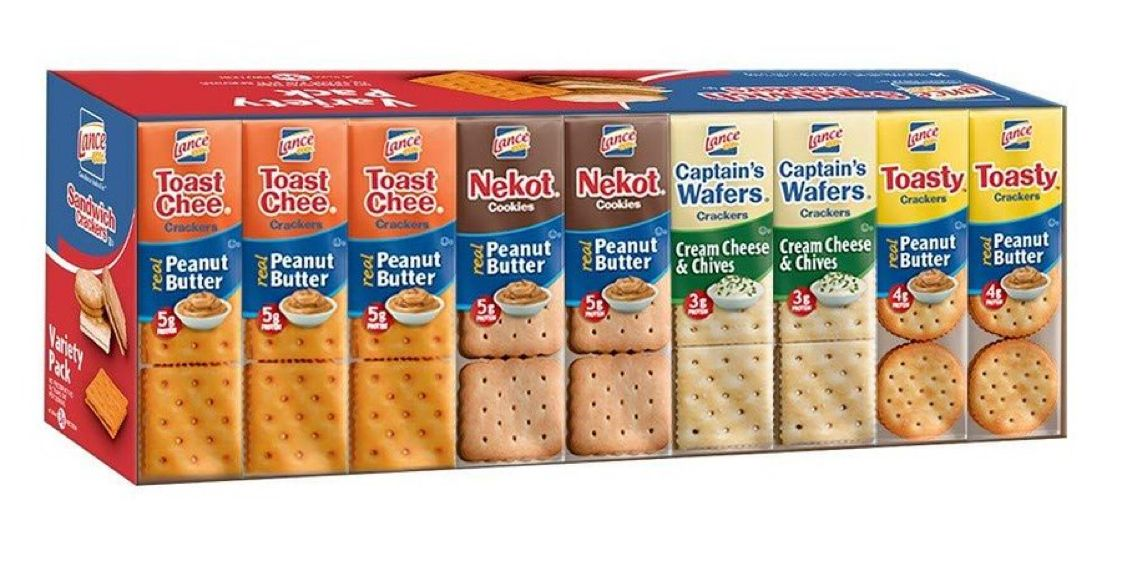 Lance Sandwich Crackers, Variety Pack, 36 Count   $7.57 with Free Prime Shipping    #steals #deals #stealsanddeals