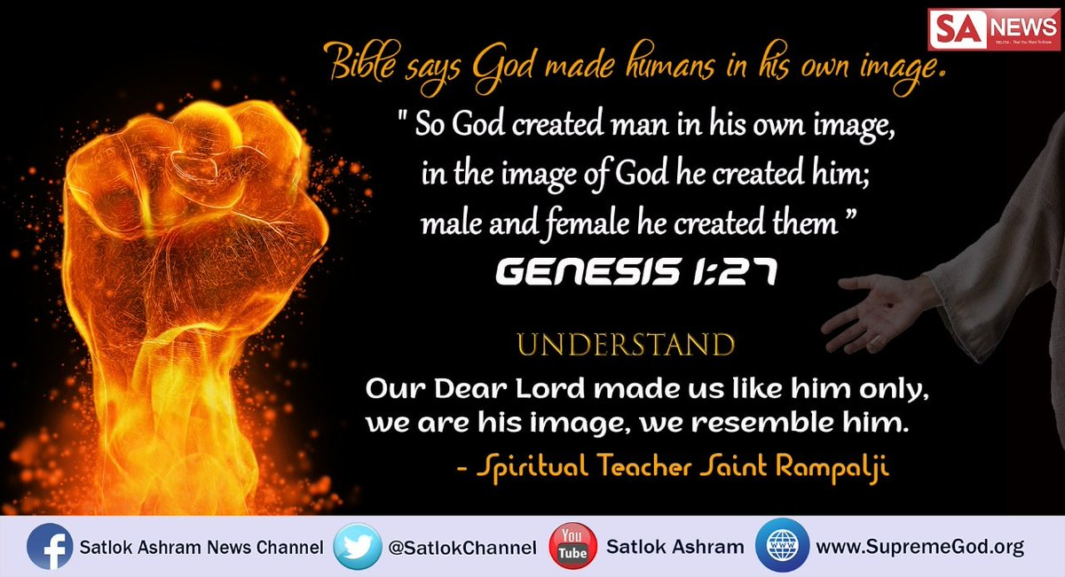 #WednesdayThoughts Bible Quotes God created the universe in six days and rested on the seventh day.The Holy Bible has proved that God is in a human body,It is written about the origin that God created man according to his form.This proves that the Lord also has a human-like body. <br>http://pic.twitter.com/XOJYKhYF5H