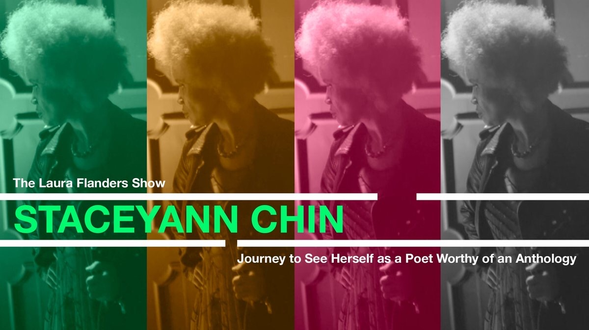 Dang @staceyannchin  is brilliant! All week, her poetry, her laughter, her precious book and even her tears on @theLFshow . PLUS her reading of Not my #President . #cultureisaweapon  #Resistance  #poetryispower  @haymarketbooks  @blkwomenradical   http://bit.ly/2RiHghg