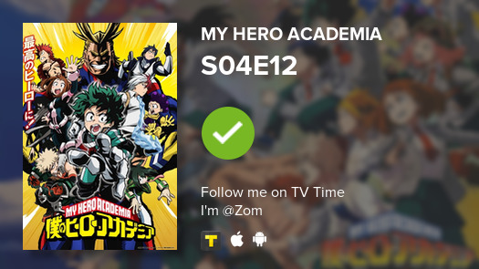 I've just watched episode S04E12 of My Hero Academia! #tvtime https://tvtime.com/r/1gfONpic.twitter.com/coS15EIf3P