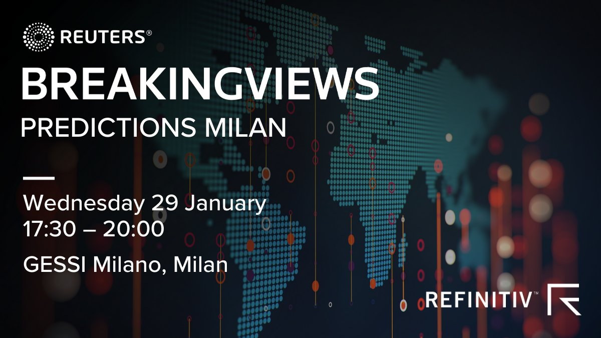 What's the best way to revitalize Italy's stuttering economy and banking system? Join @Breakingviews in Milan on Jan. 29 for a high-level panel discussion with leading corporate executives, regulators and bankers. RSVP here: https://refini.tv/36cbUNf #BVPredicts