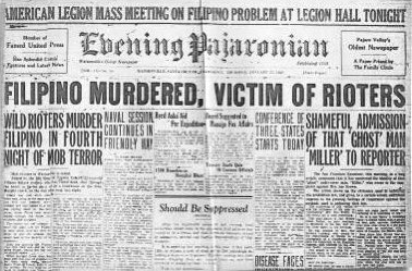 """90 YEARS AGO TODAY! 22-year old Filipino #FerminTobera was murdered during the Watsonville Anti-Filipino Riots! The next day, The Evening Pajaronian wrote, """"Wild Rioters Murder Filipino in Forth Night of Mob Terror."""" #KnowLocalHistory #NeverForget🇵🇭🇺🇸"""