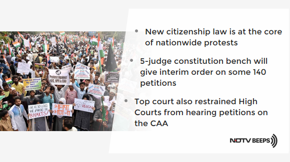 Top Court Refuses To Stay Citizenship Act, Centre Has 4 Weeks To Respond https://www.ndtv.com/india-news/citizenship-act-caa-case-no-stay-on-citizenship-act-for-now-supreme-court-says-interim-order-on-peti-2167814… #NDTVNewsBeeps