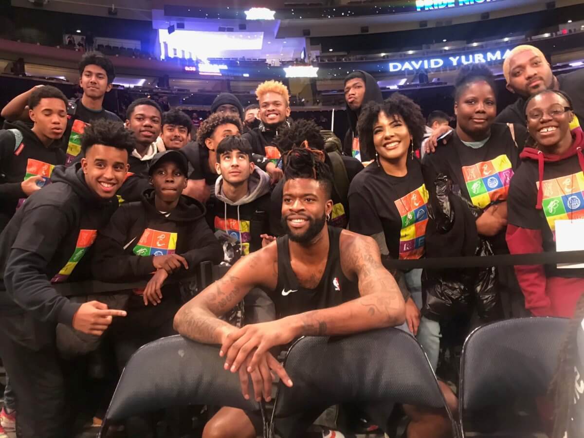 @nyknicks hosts 3rd annual #Pride night #NYC   #LGBT #Equality #EqualRights #GayRights #inclusion #Diversity @benjaaquila