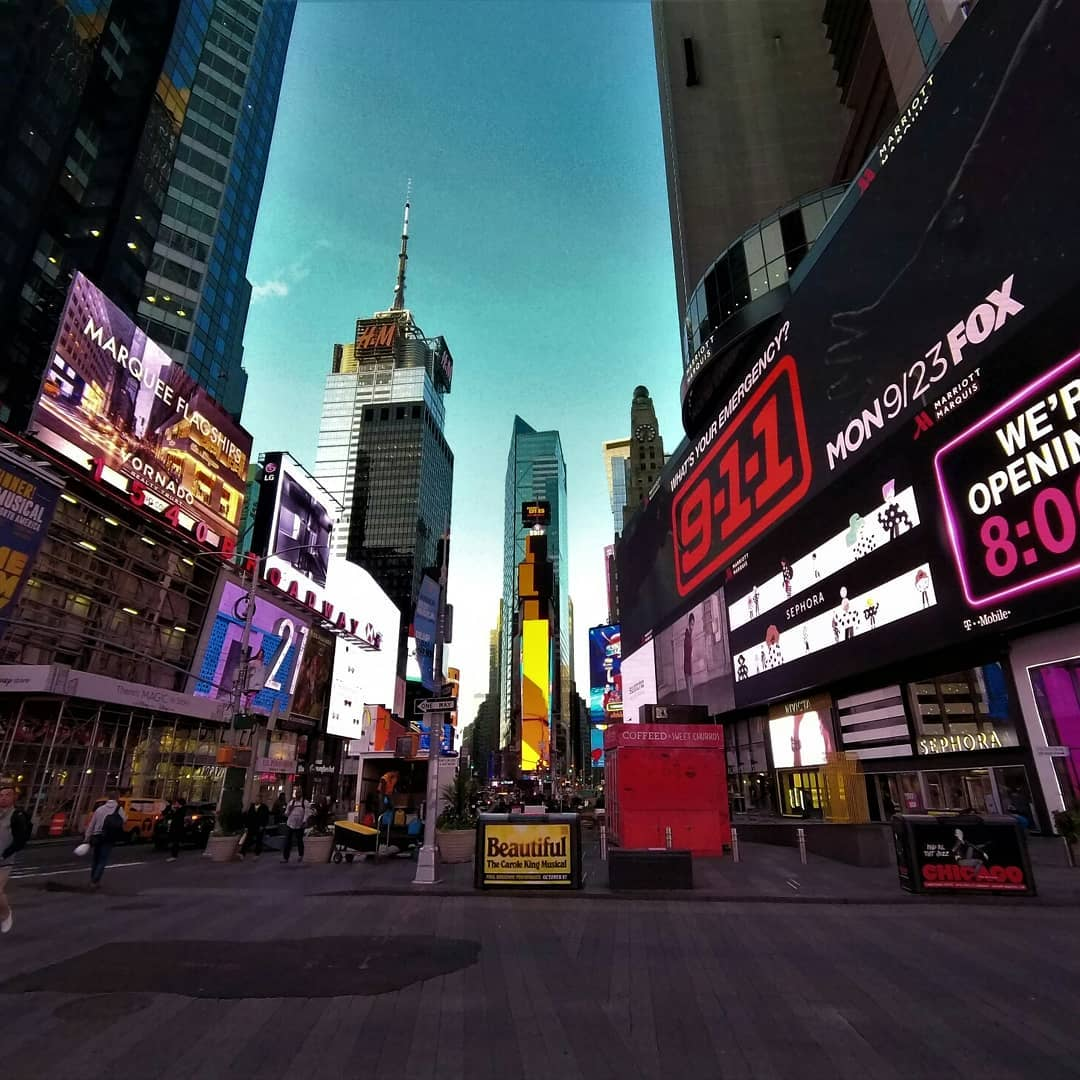 Take a moment to appreciate what's in front of you.  Here's a beautiful pic of the famous Times Square in midtown Manhattan, New York City, just at the crack of dawn. Photo by Umberto Decandia using his SJ8 PRO.  #SJCAM #cityscape #architecture #urban #buildings #NYC #SJ8PRO