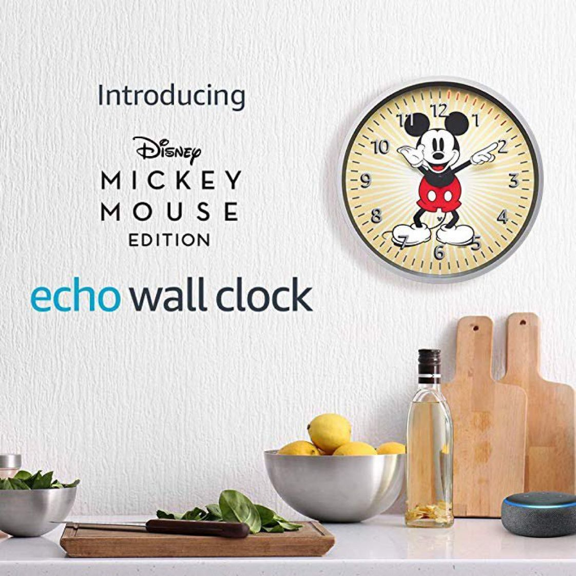 Echo Wall Clock - Disney Mickey Mouse Edition - see timers at a glance   $37.49 with Free Prime Shipping   #steals #deals #stealsanddeals