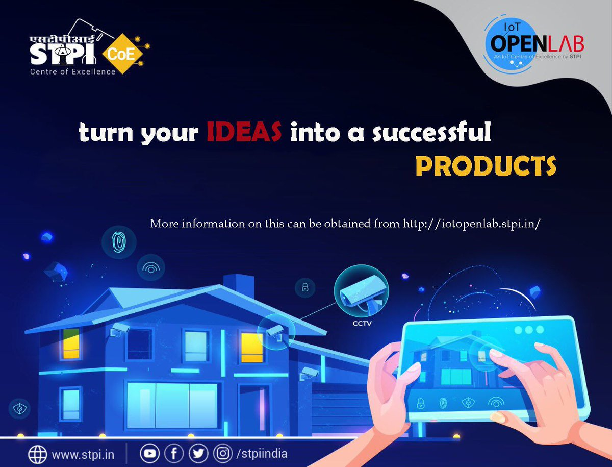RT @stpiindia: #IoT will transform the future of all sectors, from agriculture to smart cities & from healthcare to industrial automation. If you want to shape your idea in a pathbreaking IoT product, join the 1st cohort of #STPIIoTOpenLab & apply before…<br>http://pic.twitter.com/YJBVVVzuhw