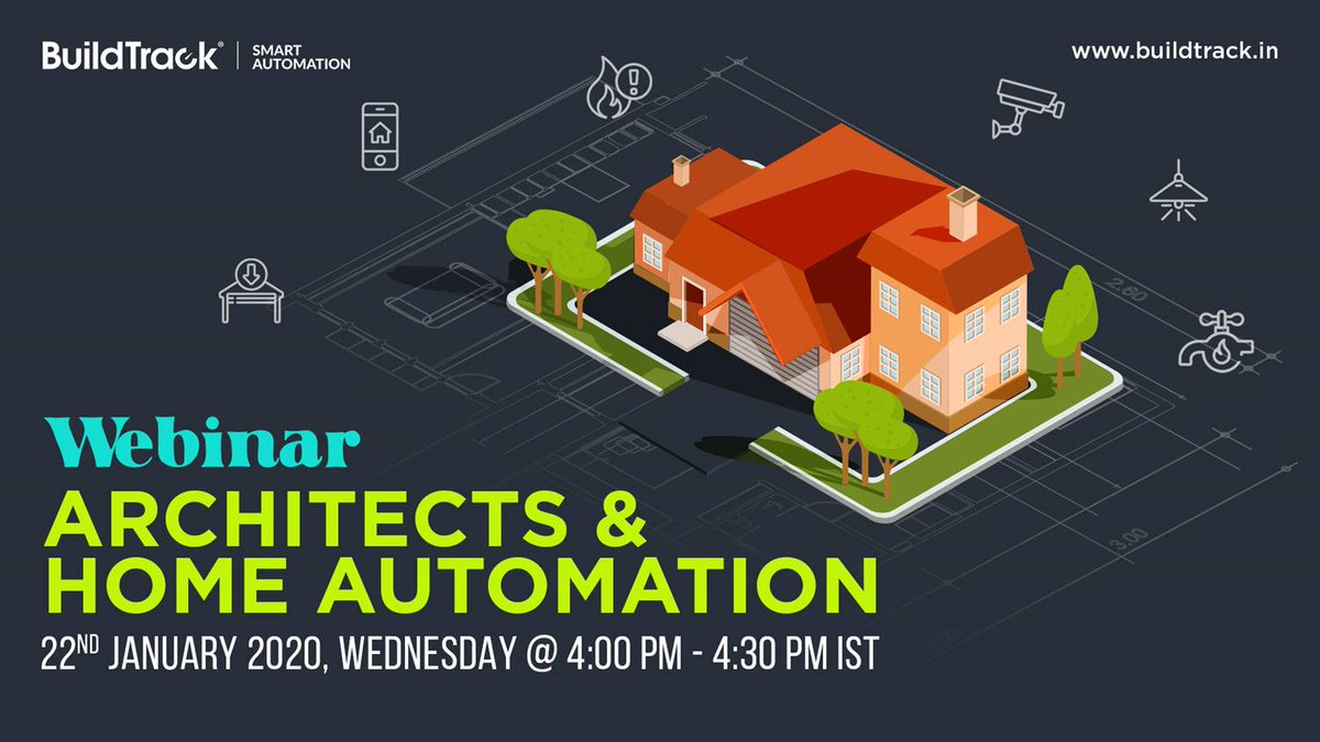 Attend our FREE webinar to understand the relation between Home Automation and Architects https://www.buildtrack.in/webinars/architects-and-home-automation… #BuildTrack #SmartAutomation #SmartHome #HomeAutomation #IoT #SmartSolutions #Architects #FreeWebinar #Technologies #SmartFeatures pic.twitter.com/7WiSzA9gJT