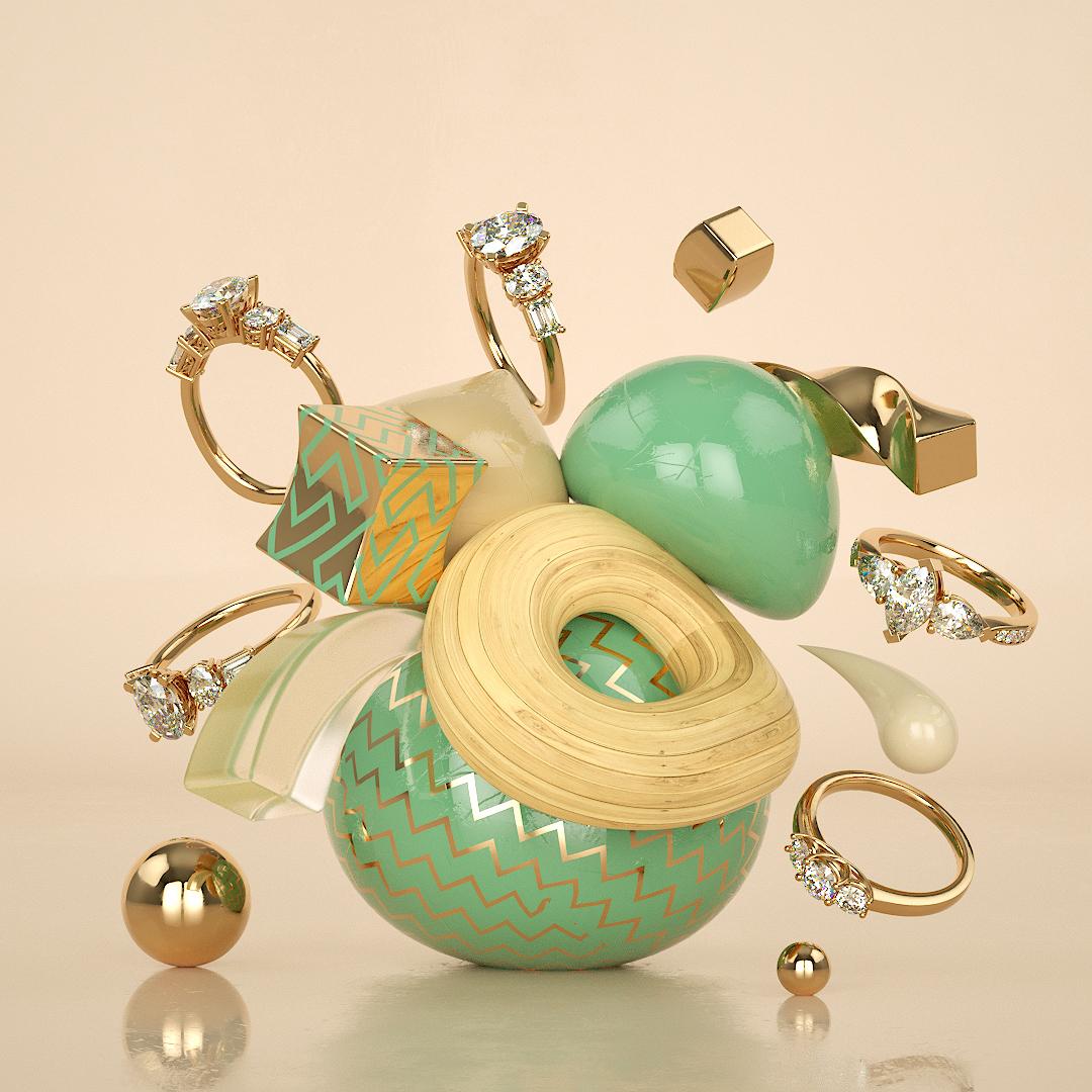 Add Diamond rings to abstract Art! #abstractart #diamonds #diamondring #engagementring #marketing #3d #3dart #WednesdayWisdompic.twitter.com/eMMNdU6vHc