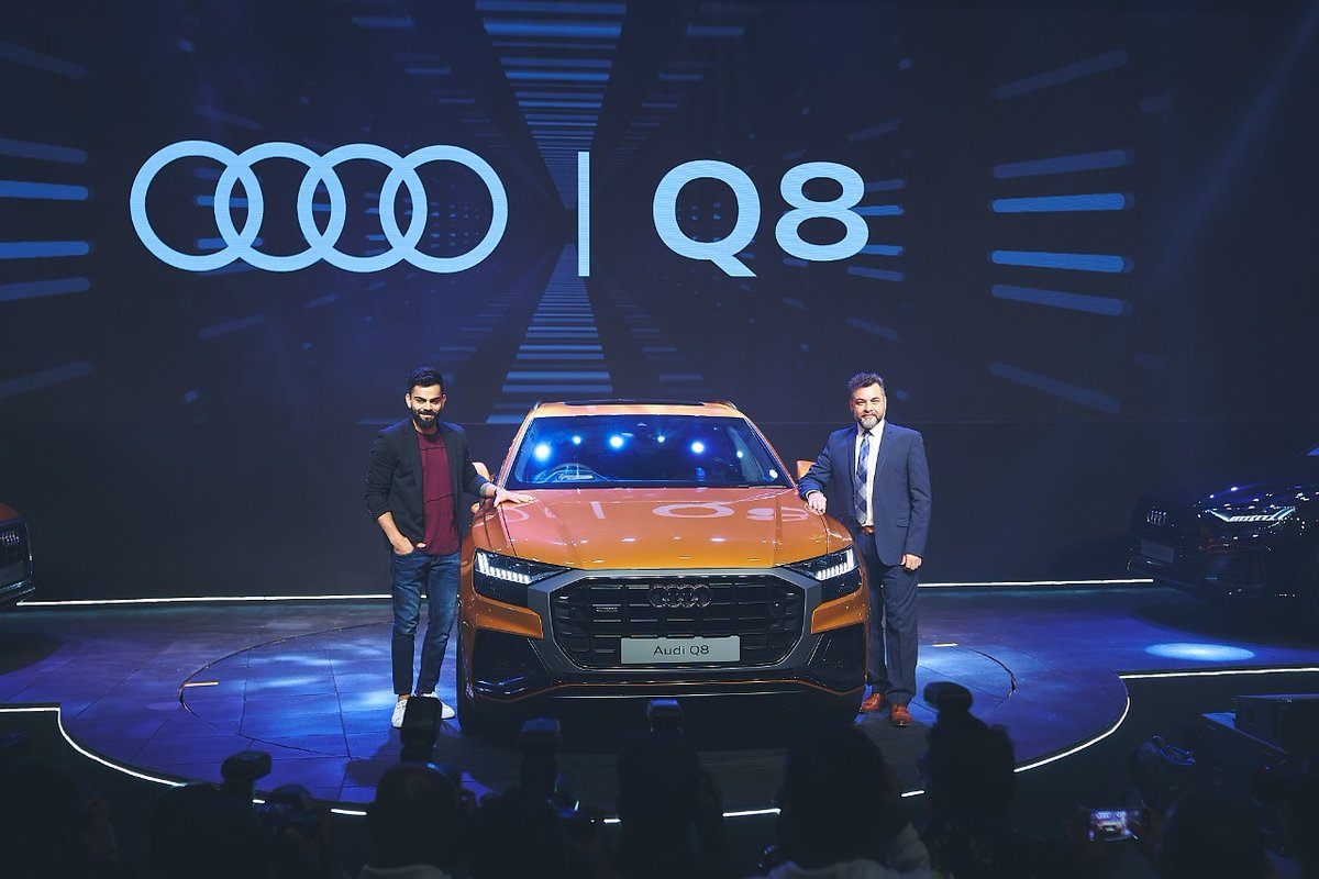 Stylish, elegant and classy. An absolute beast the Audi Q8 😎👌Glad to be a part of the launch with Mr Balbir Singh Dhillon, Head @AudiIN #AudiQ8 #8thDimension
