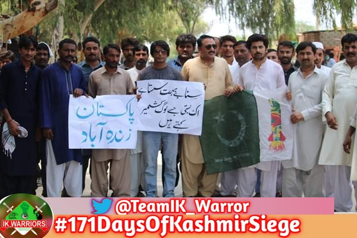 We Pakistani will continue our support for kashmir ,we are with u  #171DaysOfKashmirSiege <br>http://pic.twitter.com/ZYJ08JjtLF