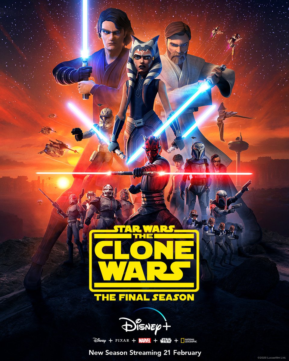 The final season of @StarWars: #TheCloneWars starts streaming Feb. 21 on #DisneyPlus.