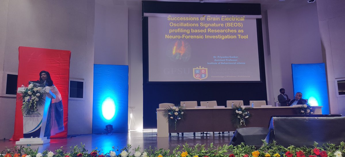 Brain Electrical Oscillation Signature work by Priyanka Kacker of @GujaratForensic on #forensic neuroprofiling was showcased at CNSI 2020. Seems @Axxonet & Dr. CR Mukundan's BEOS has been done on 300 #criminal cases incl a Kerala rape segregating innocent & guilty.