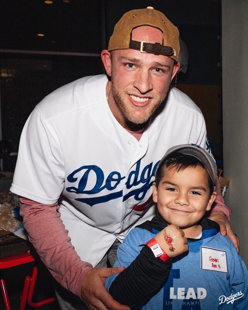 The Dodgers, along with Alex Verdugo, @matt_beatybu and @WorthyofLoveLA, hosted a special birthday party at Dodger Stadium tonight for children experiencing homelessness. #DodgersLoveLA