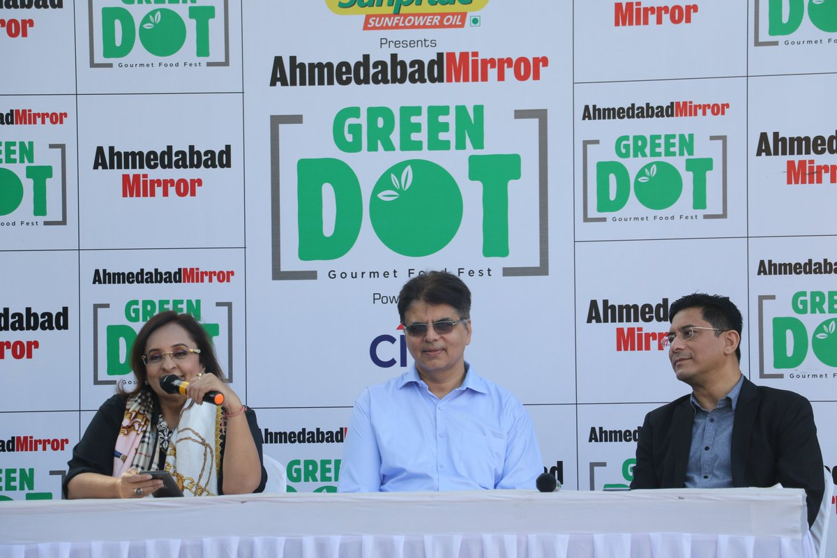 #MirrorGreenDot  Being Mirror Green Dot's digital and #socialmedia partner and a BIG Foodie, Pratik and I attended the press conference and food preview/tasting meet organized by @ahmedabadmirror. #Ahmedabad