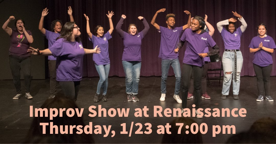 Join us for a laugh out loud improv show this Thursday at the Renaissance Performing Arts Center Theatre. Tickets available at the door.  #RHSA #LBUSDimprovleague  #theatrearts #improv #proudtobeLBUSD