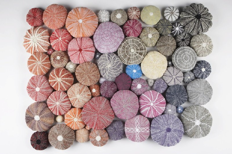 'Knitted Urchins' by contemporary textile artist Patricia Brown #womensart <br>http://pic.twitter.com/jbnMBDJV89