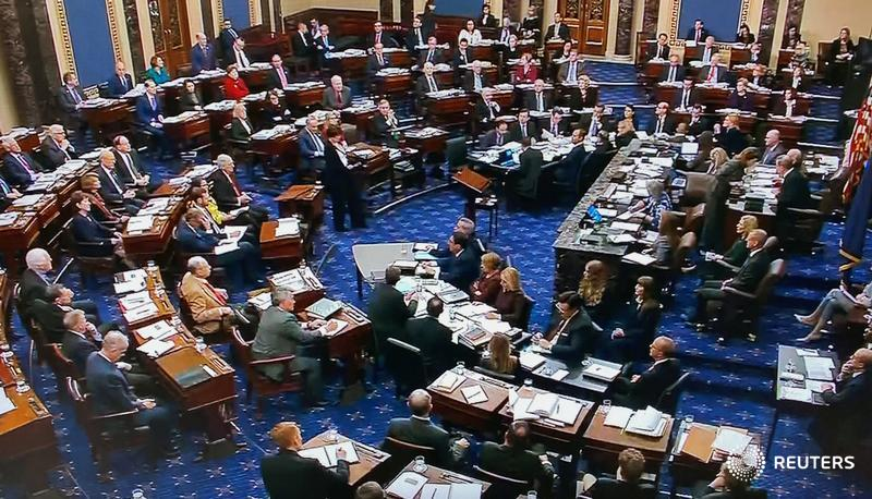 The Republican-controlled Senate voted on party lines to approve the rules for President Trump's impeachment trial, rejecting Democratic efforts to obtain evidence and ensure witnesses are heard https://reut.rs/2TN9Bh6 #ImpeachmentHearings