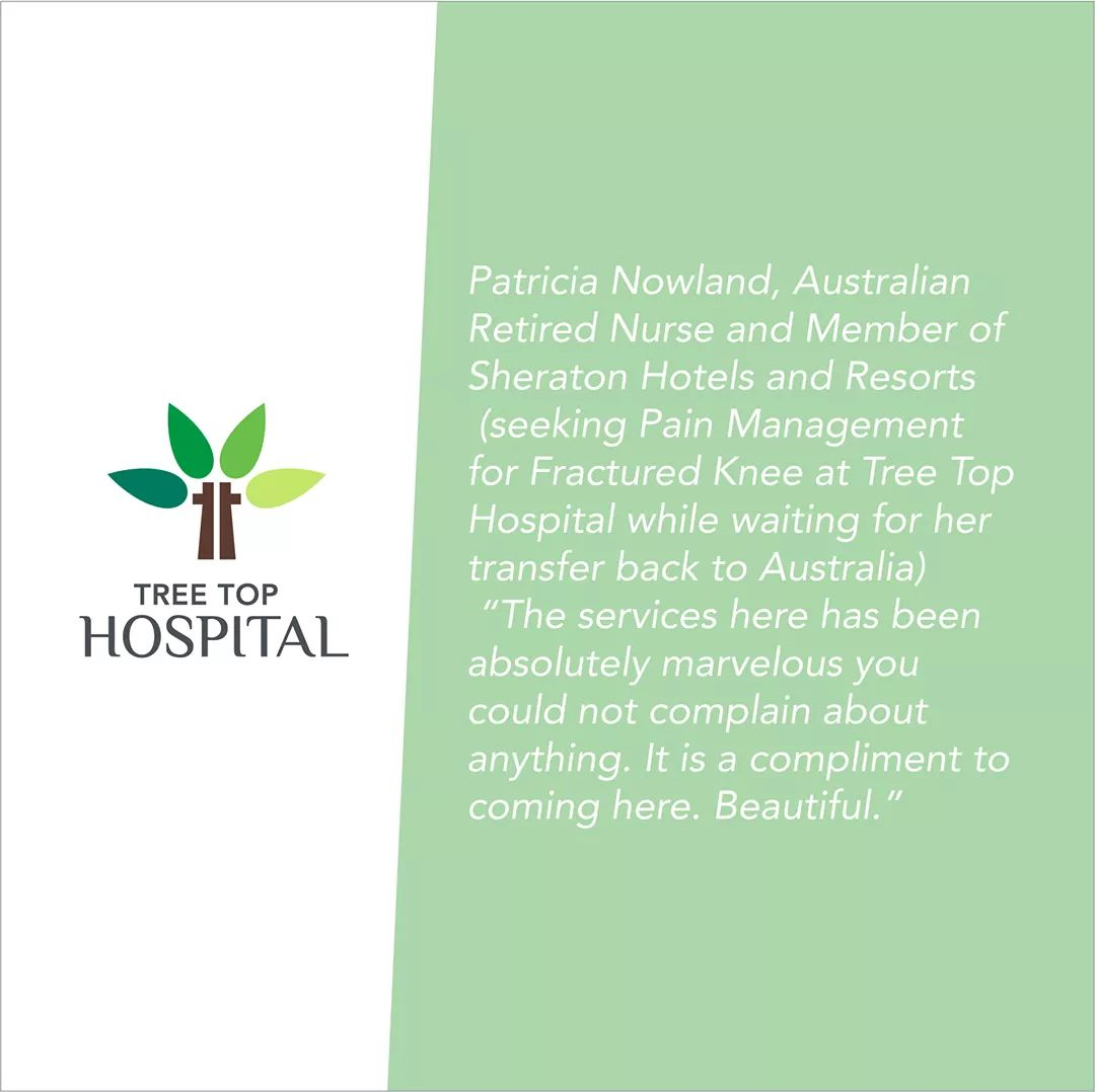 Wonderful review by one of our guests Ms. Patricia Nowland, a retired nurse from Australia. #treetophospital #tth #treetop #maldives #health #healthcare #excellenceinhealthcare #Nursingpic.twitter.com/pM1FCYeGGd