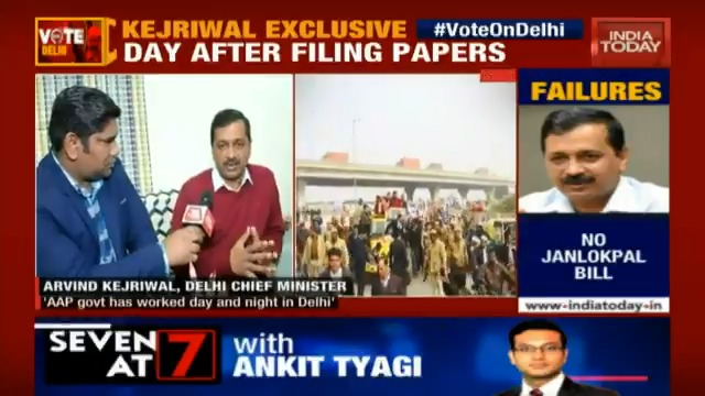#VoteOnDelhiAAP government has worked day and night in Delhi. Poll on the basis of our work, says CM @arvindkejriwal in an #exclusive conversation with @pankajJainClick.Watch #6PMPrime live at http://bit.ly/IT_LiveTV
