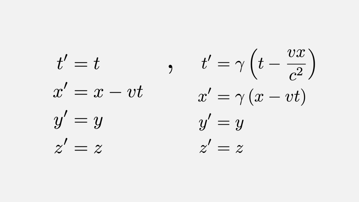 It took us 255 years to go from Galilean transformations for falling bodies to Lorentz transformations that are in accordance with Einsteins special relativity.