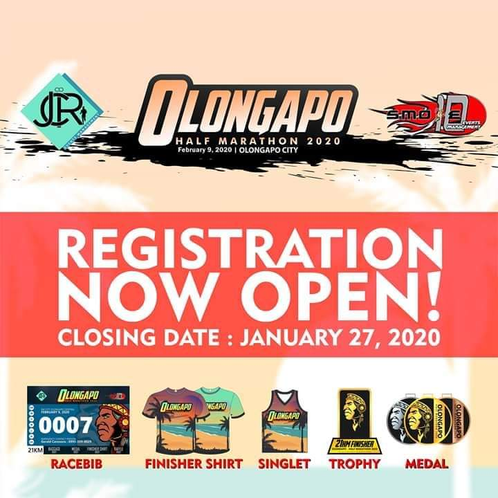 REGISTRATION IS ONGOING! Few Slots Left!  OLONGAPO HALF MARATHON 2020 ! 3K/5K/10K/21K Feb. 9, 2020 @ SM City Olongapo Central CLOSING DATE JANUARY 27,2020 Hurry and Register now Runners!!! In-Store Registration is now Open <br>http://pic.twitter.com/UUC019UGgi