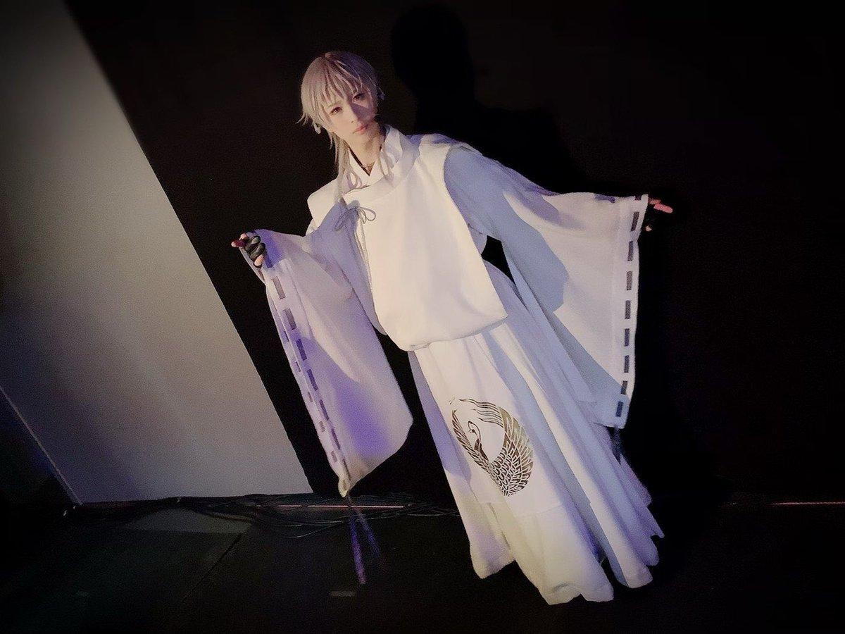 ミュージカル『刀剣乱舞』歌合 乱舞狂乱 2019東京公演1日目お越しいただきありがとうございました!新衣装での写真と黒羽さんとの2ショット撮れました!嬉しいです😂明日は大千秋楽!よろしくお願いします!!