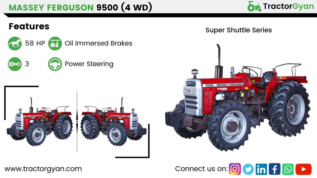 Massey Ferguson 9500 super shuttle किसानो का पुराना दोस्त  https://tractorgyan.com/tractor/massey-ferguson-9500-super-shuttle-4wd/135…  #जानकारीसहीमिलेगीयहीं #TractorGyan #agriculture #farm #tractor #farming #kisaan #masseyfergusonpic.twitter.com/Wshna3af4G