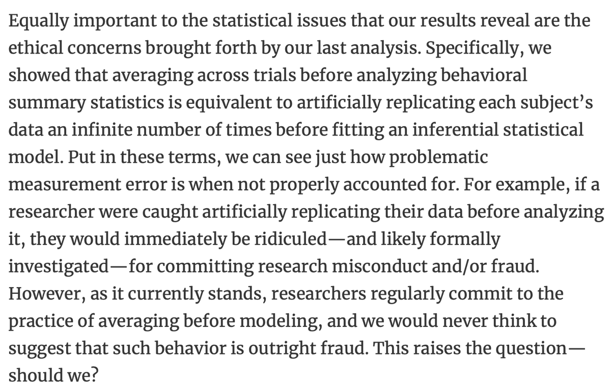 Should scientists who average across trials before modelling be reported for fraud?  https://t.co/XxlHxXOVdB https://t.co/kcFRAS6GM8