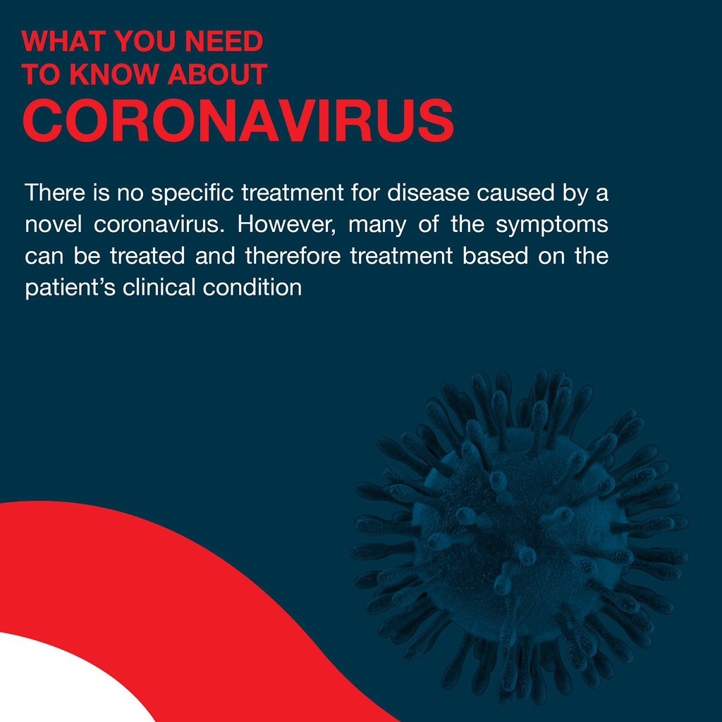 Here's what you need to know about #Coronavirus. Be informed. Tell your friends and family.