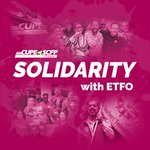 Image for the Tweet beginning: Today, TVDSB ETFO members are