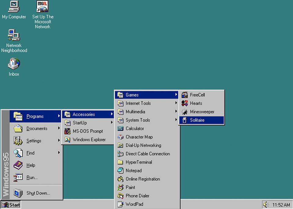 ←私が想像する10年前のWindows→実際の10年前のWindows